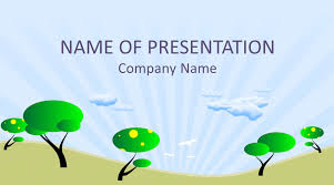 Tree Powerpoint Template Cartoon Trees Powerpoint Template Templateswise Com
