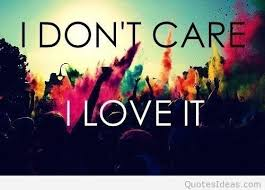 i dont care i love it summer quote