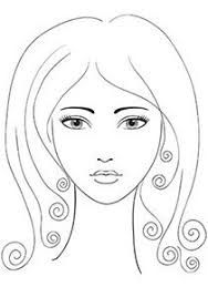 Makeup Face Coloring Pages My Localdea