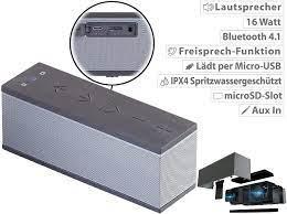 auvisio Handy Lautsprecher: Stereo-Lautsprecher mit Freisprecher, Bluetooth,  microSD, 16W, IPX4 (BT Lautsprecher) : Amazon.de: Elektronik & Foto
