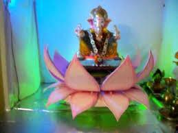 ganapati in lotus ganapati deco pinterest lotus decoration