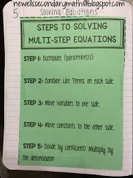 high school special education math teacher blog for ideas and resources in the secondary math classroom two step equationsmath equationssolving