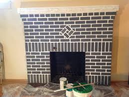 paint red brick fireplace grey best image voixmag