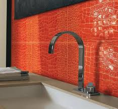 Modern Large-Scale Crocodile Skin Bathroom Tiles from Petracer -  Freshome.com