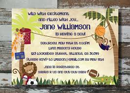 Baby Shower Invitations Sports Theme