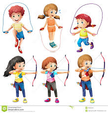 hobbies for kids. royalty-free stock photo. download kids with different hobbies for b