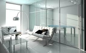Waiting Room Elegant White Interior Design Wallpaper Tri