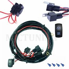 cheap 4 pin rocker switch wiring 4 pin rocker switch wiring get quotations · mictuning universal 14 awg 14 ft 2 lights copper led light bar wiring harness