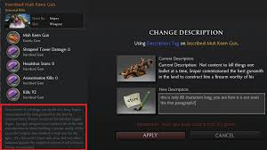 description tag text length archive dota2 dev