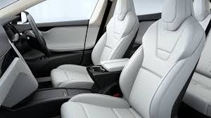 tesla s electric suv is available with genuine leather options as well as an ultra white synthetic leather seating option to attract vegan ers
