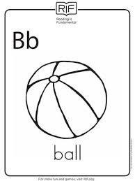Small Picture B Is For Beach Ball Coloring Fresh B Is For Ball Coloring Page