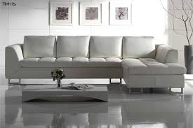 white leather contemporary sofa