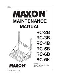 maxon rc series liftgate by the liftgate parts co issuu