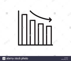 Down Arrow Chart Graph Chart Down Icon Down Arrow Symbol Flat Vector