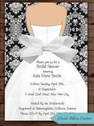 diy bridal shower invitations unique damask bow bridal shower invitation wedding invitation black of diy
