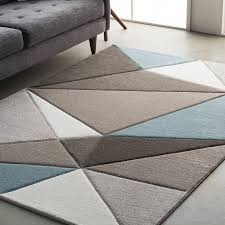 amazing mott street modern geometric carved tealgray area rug reviews inside grey area rugs attractive