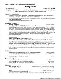 Sample Resume Formats For Experienced Resume Format For Experienced