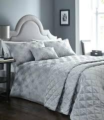 king size duvet cover set luna pewter silver luxury woven jacquard king size duvet cover white