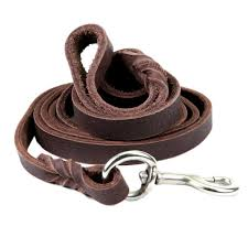 com petroad heavy duty brown leather dog leash for large dogs training lead for dogs and 6ft long and 3 4 inch large brown petroad pet
