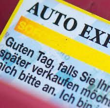 Exporthändler Visitenkarten Am Auto Nerven Welt