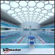 Indoor olympic swimming pool 3D model TurboSquid 1184618