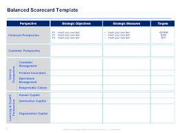 Scorecard Template Strategy Map Balanced Scorecard Strategy Map Operations