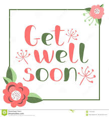 Get Well Soon Poster Get Well Soon Card Stock Vector Illustration Of