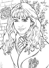 Small Picture Hermione Granger Harry Potter Coloring Pages Pinterest