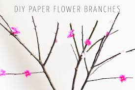 Paper Flower Branches Diy Paper Flower Branches