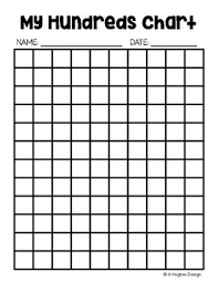 Blank 100 Number Chart Free Hundreds Chart Printables 100 And 120 A Hughes Design