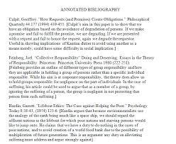 research paper annotated bibliography FAMU Online sample annotation MLA handbook