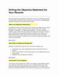 career objective resume examples elegant how to write a general on