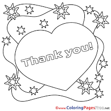 Small Picture Heart printable Coloring Pages Thank You
