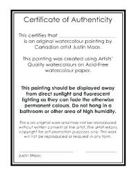 Certificate Of Authenticity Template Simple Certificate Of Authenticity Template Print Art Looking For Concept