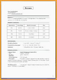 Resume Format For Mca Freshers Free Resume For Freshers Collection