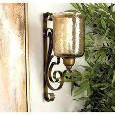 wall candle holder traditional wrought iron and glass wall candle sconce wall candle holders hobby lobby