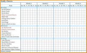 Weekly Chore List Template Printable Weekly Chore Chart Atlaselevator Co