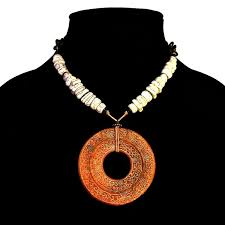 giant carved jade donut pendant necklace with white howlite bead emblem product images of