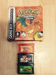 Pokemon Feuerrot für GBA + 2 Spiele in 33689 Bielefeld für 20,00 € zum  Verkauf