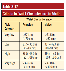 Waist Circumference Chart Lifestyle 365 Part I Waist To Hip Ratio Pinnacle