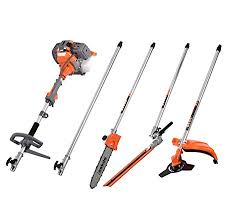 52cc petrol 5 in 1 garden multi tool brushcutter hedge trimmer chainsaw strimmer
