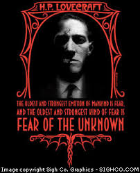 h p lovecraft fear of the unknown shirt sigh co graphics h p lovecraft fear of the unknown