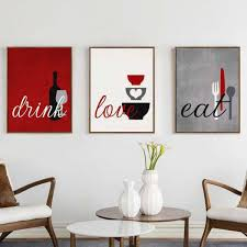 eat drink love kitchen wall art epic