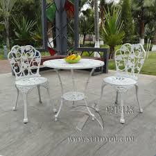 white garden furniture. Fine Furniture 3piece Cast Aluminum Table And Chair Patio Furniture Garden  Outdoor White Inside White Garden Furniture G