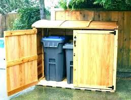 outdoor garbage storage amazing charming trash can at ideas regarding 4