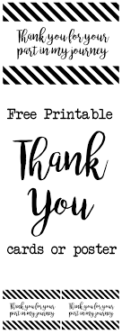 Thank You Black And White Printable Printable Thank You Cards For Friends Download Them Or Print