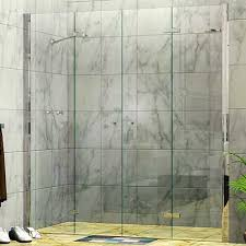 twin bi fold wall to wall shower screen
