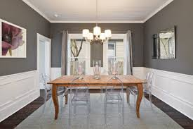 Modern yet Traditional Dining Room - Traditional - Dining Room - Austin -  by Avenue B  Beautiful grey walls ...
