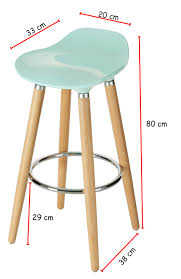 orolay blue kitchen breakfast bar stool abs plastic seat chrome footrest wooden legs