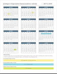 windows printable calendar 2018 2017 2018 academic calendar office templates